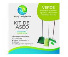 Productos de aseo y desinfección para casa y oficina