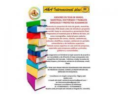 Trabajos tesis de grado, postgrado y proyectos especiales
