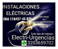 Servicio de Electricista,country ,Usaquen,santa ana,Modelia,Salitre,Villa luz, Zona G,
