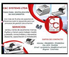 Renta y venta de escáneres para digitalización