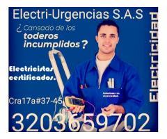 Electricista, los Rosales, Galerías, Teusaquillo, Palermo, Quirinal, Parkway, La esmeralda.