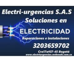 Electricista,Nicolás de Federmann, Chapinero, Quinta paredes, Las américas, Campin, Marly.