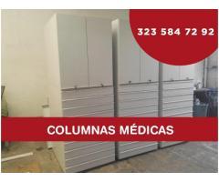 columnas, estanterias de productos y farmacos