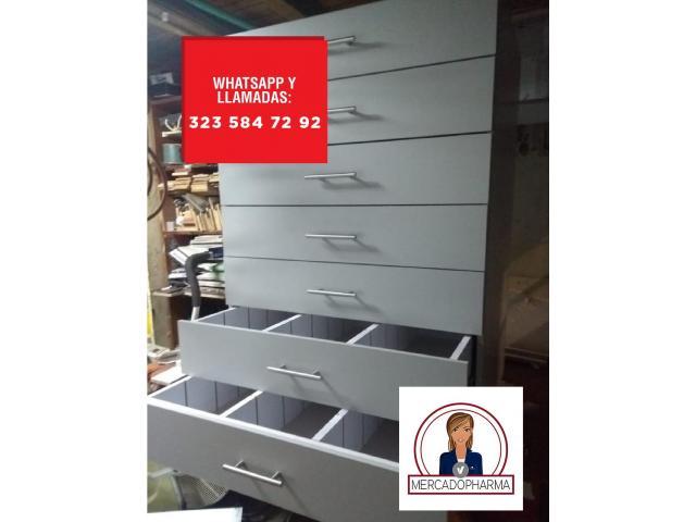 Gondolas, estanteria metalica e insumos