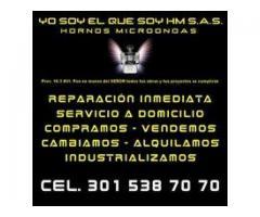 REPARACIÓN ARREGLO DE HORNOS MICROONDAS LINEA INDUSTRIAL A DOMICILIO