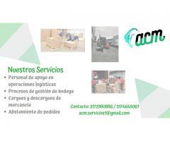 SERVICIO DE CUADRILLAS PARA CARGUE Y DESCARGE COTEROS AUXILIARES BODEGA
